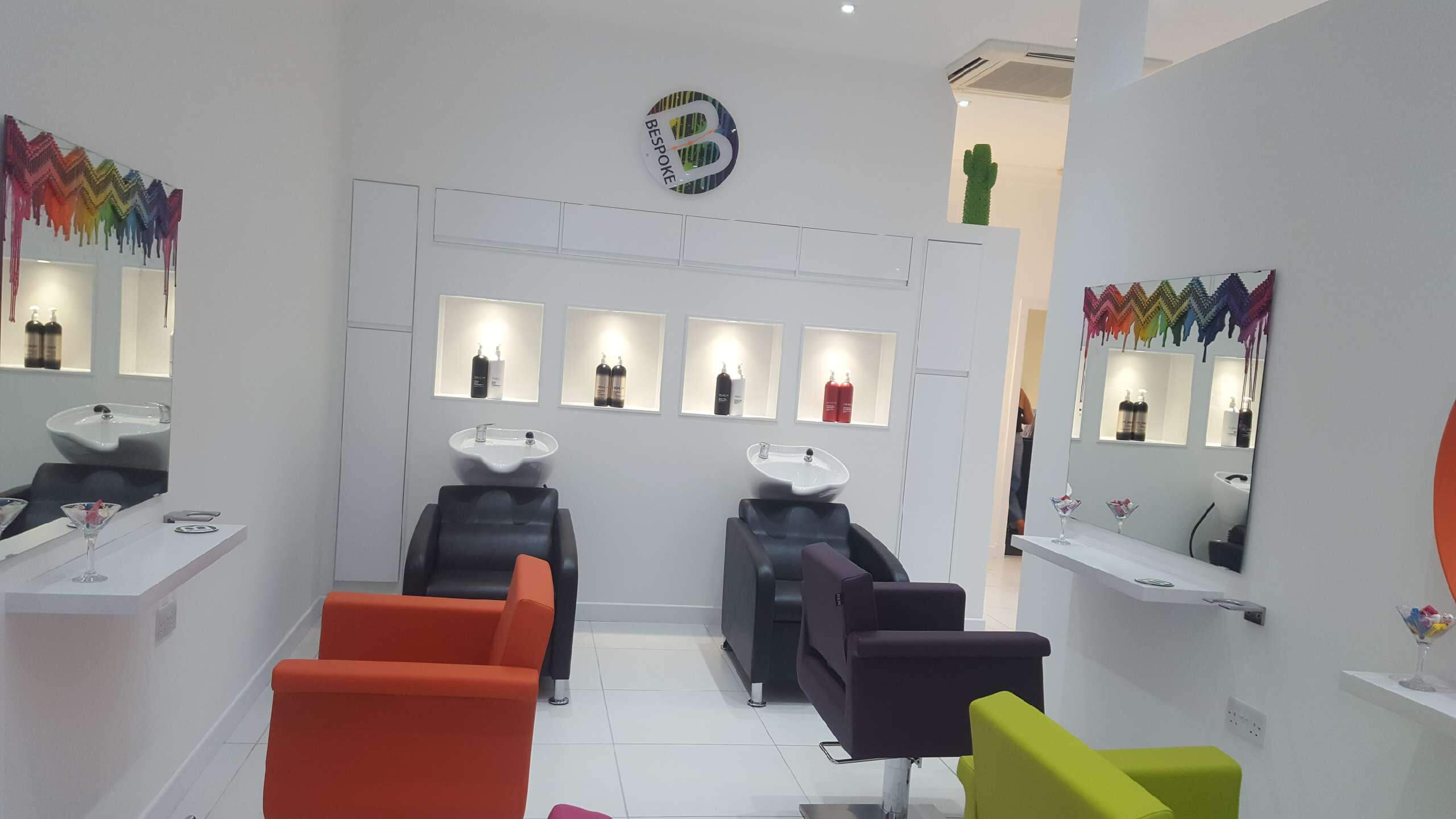 Commercial Painitng at Bespoke Hairdressers in Dunfermline